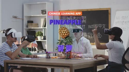 Students Learning Chinese with a VR Learning App