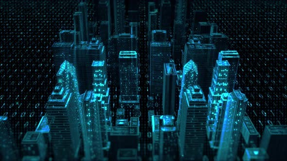 Thumbnail for City Cyber Tech Digital Background
