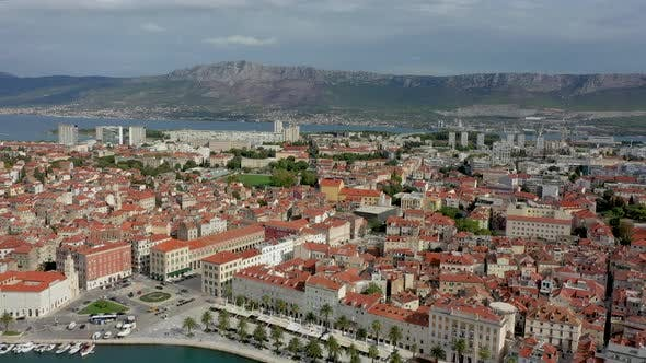 Thumbnail for Aerial view over the  Grand Split, Croatia