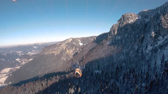 Thumbnail for Paragliding Fly above Winter Forest Mountains Freedom