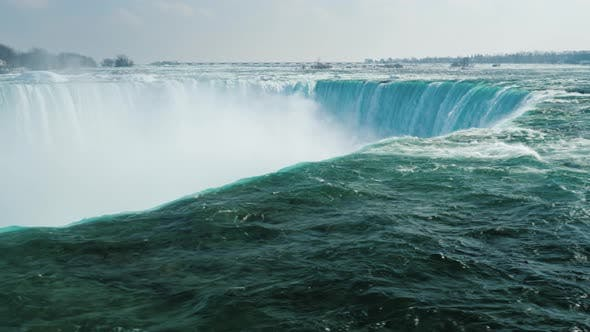 Thumbnail for Wide Lens Shot of Horseshoe Shaped Waterfall in the Niagara Falls Series