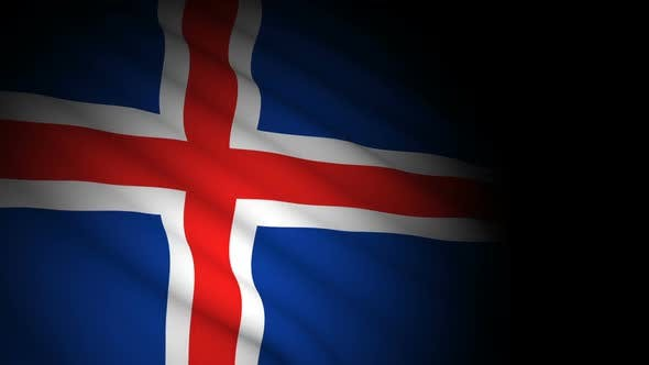 Thumbnail for Iceland Flag Blowing in Wind