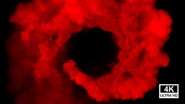 Thumbnail for Red Smoke Swirling 4K