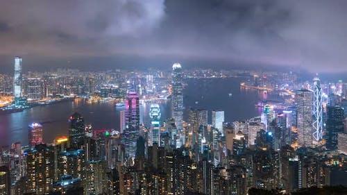 Modern City Night Timelapse