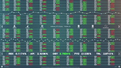 Mock Up of Stock Market Software