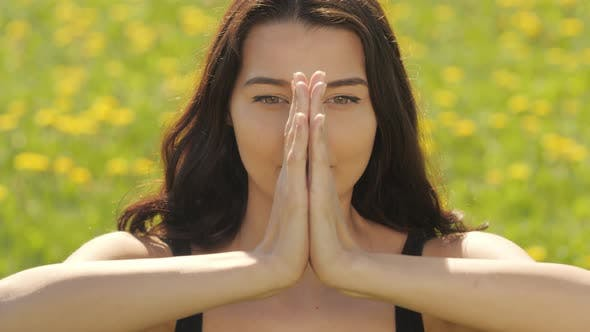 Thumbnail for Close Up Portrait of Young Beautiful Asian Woman While Practicing Yoga at the Gym