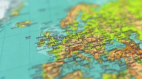Thumbnail for 4k Europe On World Map