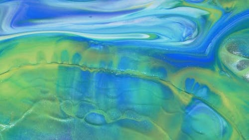 Abstract Light Pastel Streams Flow Along the Plane on a Blue Background