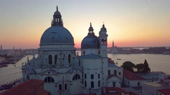 Thumbnail for Venice , Italy, Aerial View of Santa Maria Della Salute