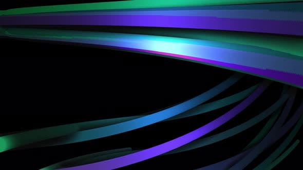 Abstract colorful curved lines