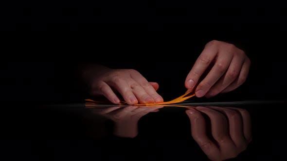 Thumbnail for Arts Origami. Black. Close Up