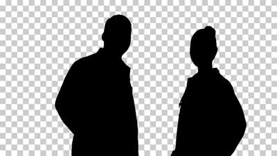 Silhouette People, Alpha Channel
