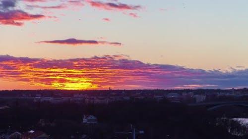 Stockholm Sunset Cityscape Timelapse