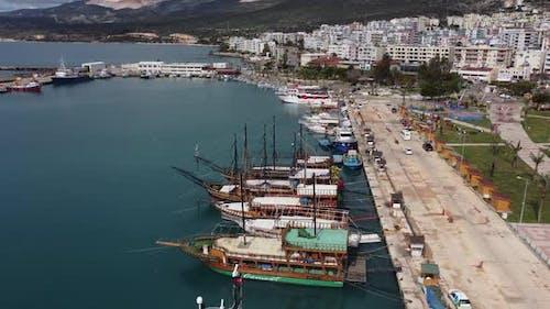 Recreational Boats Anchored in Marina