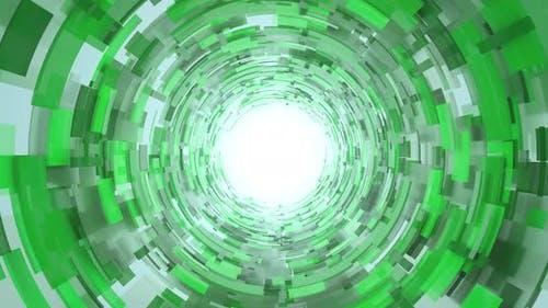 Green Abstract Tunnel Blocks