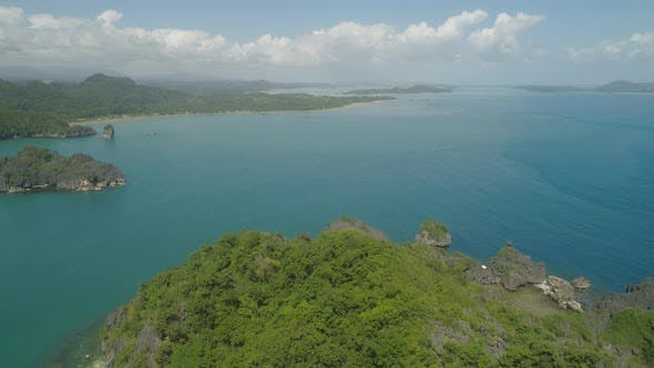 Seascape Caramoan Islands Camarines Sur Philippines