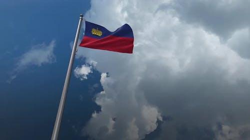 Liechtenstein Flag Waving 4K