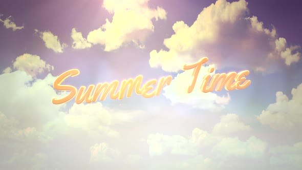 Summer Time with cloudy and sunrise