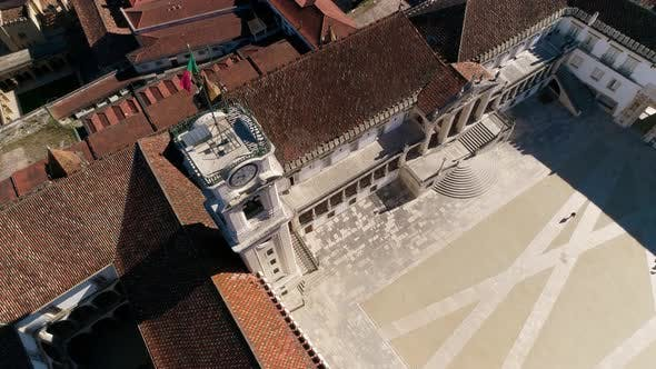 Thumbnail for Aerial View of Coimbra, Tower of University of Coimbra, Portugal