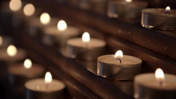 Candles In The Church Rack Focus