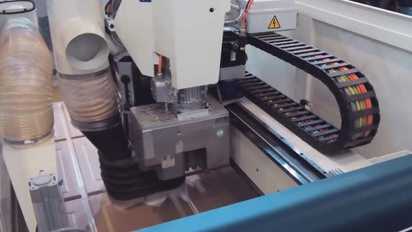 Woodworking CNC Machine in the Process