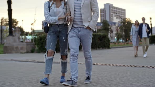 Thumbnail for Beautiful Couple Walking in the Evening