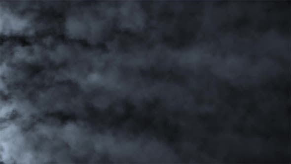 Thumbnail for Fast Moving Puffs of Smoke on an Isolated Black Background