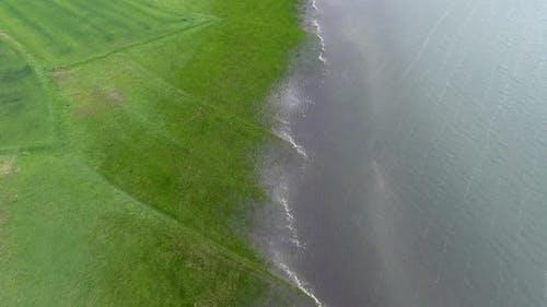 Rising Water Level in Plain Left Fields Under Flood