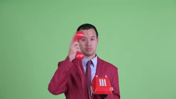 Thumbnail for Face of Happy Asian Businessman Using Telephone and Getting Good News