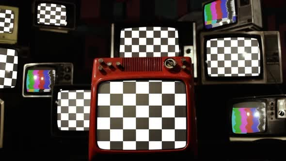 Thumbnail for Chequered Flags and Retro TVs.