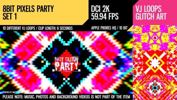 Thumbnail for 8 Bit Pixels Party (2K Set 1)