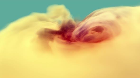 Thumbnail for Imaginary and oddly satisfying trippy abstract hypnotizing twirl of orange clouds