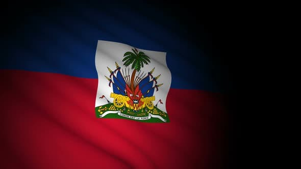 Thumbnail for Haiti Flag Blowing in Wind