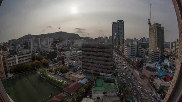 Cover Image for Timelapse of City Life in Seoul, South Korea