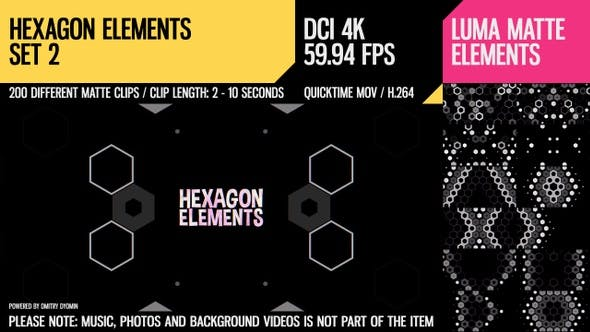 Thumbnail for Hexagon Elements (4K Set 2)