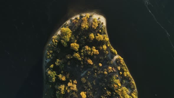 Thumbnail for Slow Down To Autumn Island Top Down View