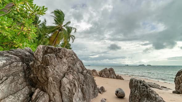 Thumbnail for Tropical storm on Taling Ngam Beach in Samui Island, Thailand