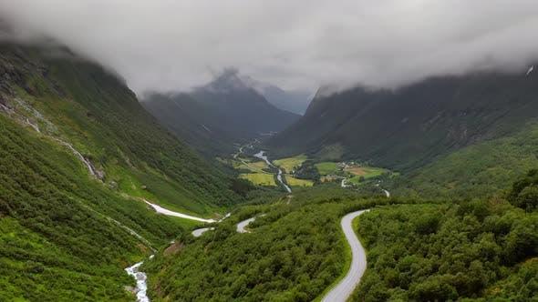 Luftaufnahmen Schöne Natur Norwegen
