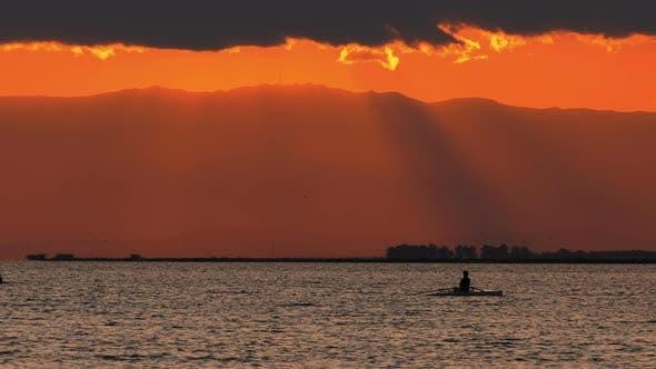 Thumbnail for Sunset And Canoe Sport Silhouette