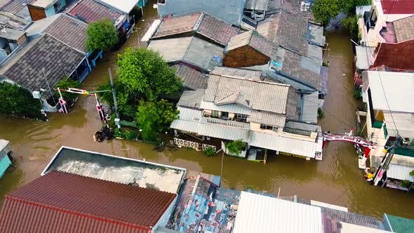 Thumbnail for Aerial Pov View Depiction of Flooding