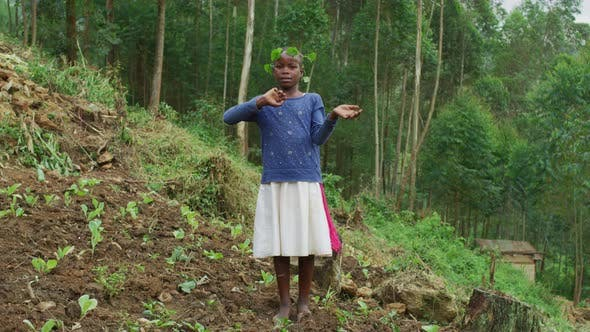 Thumbnail for African girl waving her hands