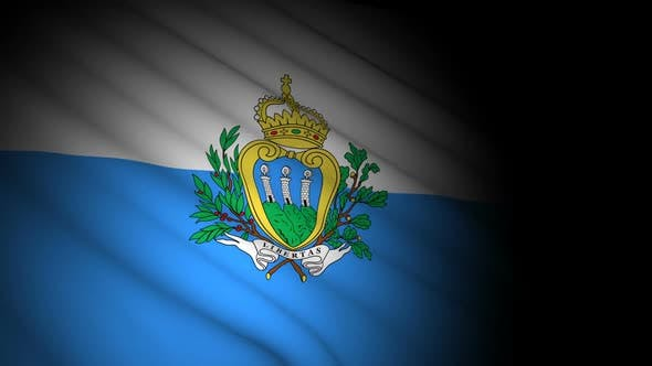 Cover Image for San Marino Flag Blowing in Wind
