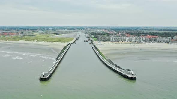Nieuwpoort Harbour Flut Zeitraffer