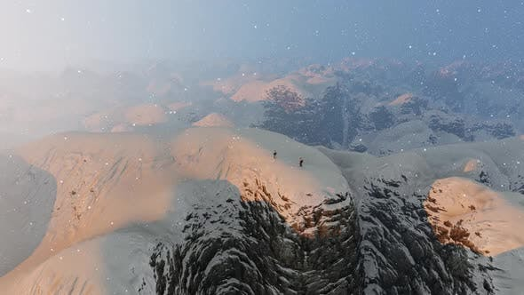 Thumbnail for Snowy High Mountains and Climber