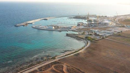 The construction of new marina in Ayia Napa
