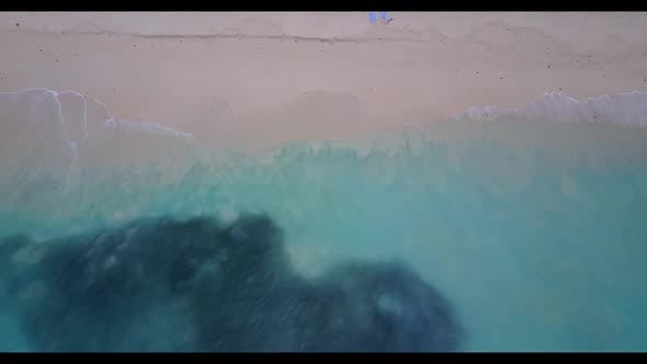Thumbnail for Aerial drone shot texture of luxury resort beach adventure by aqua blue water with white sandy backg