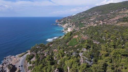 Turkey Mountain Coastline  Shore Mediterranean Sea