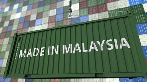 Container with MADE IN MALAYSIA Caption