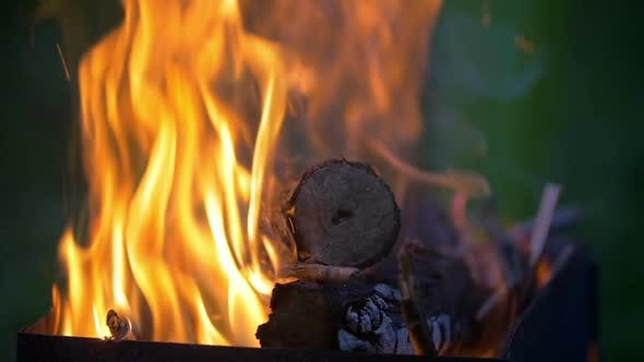 Thumbnail for Firewood Burning in the Furnace