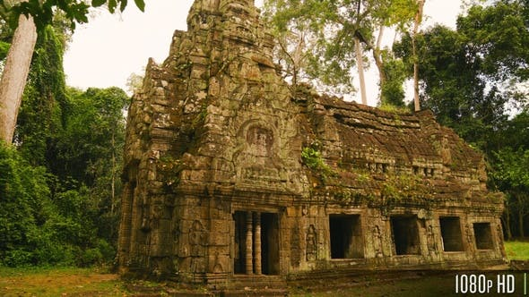 House of Fire at Preah Khan Temple in Siem Reap, Cambodia